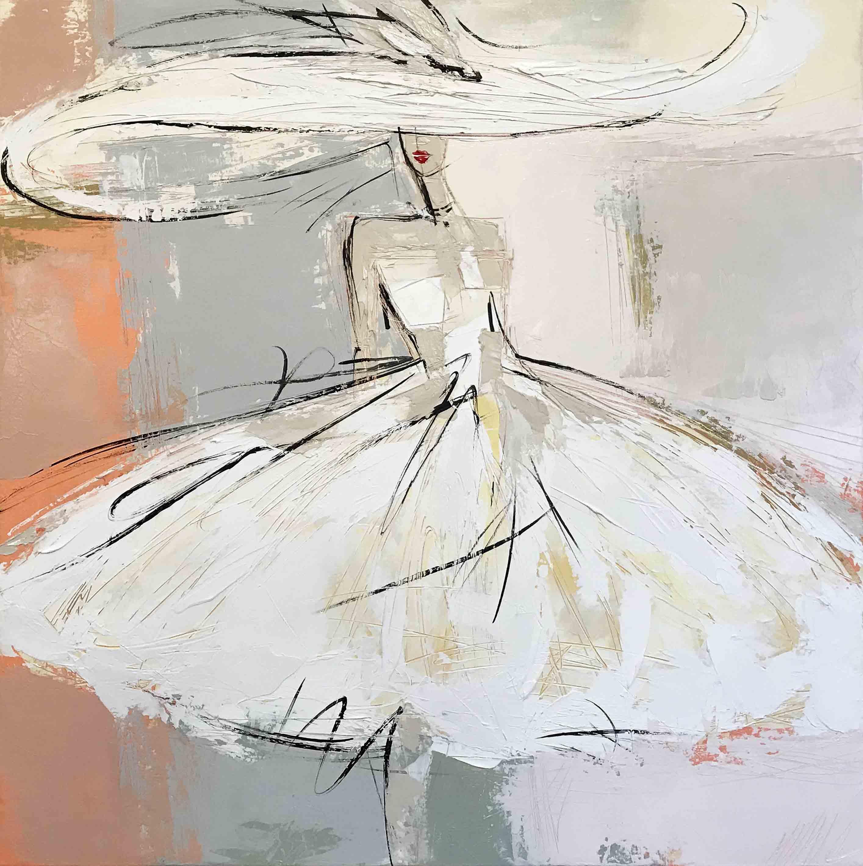 La fille au chapeau | 80x80cm