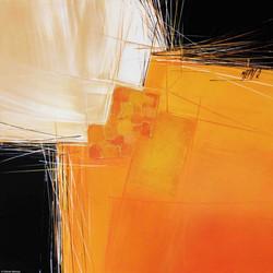 Paysage en orange II   50x50cm