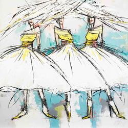 Les filles de Saint-Tropez | 80x80cm