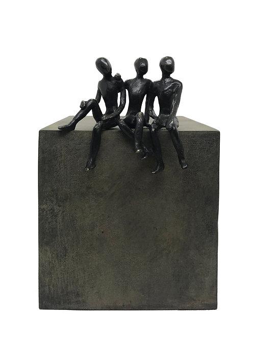 Les 3 frères... 1/8 (version vert) | 22x15x16cm
