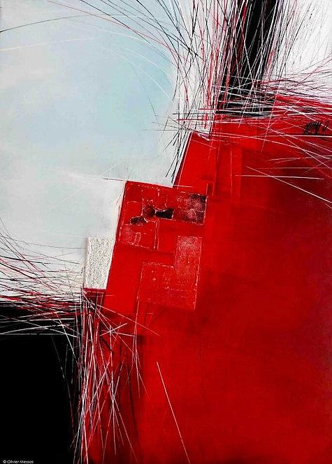 Paysage en rouge...   70x50cm