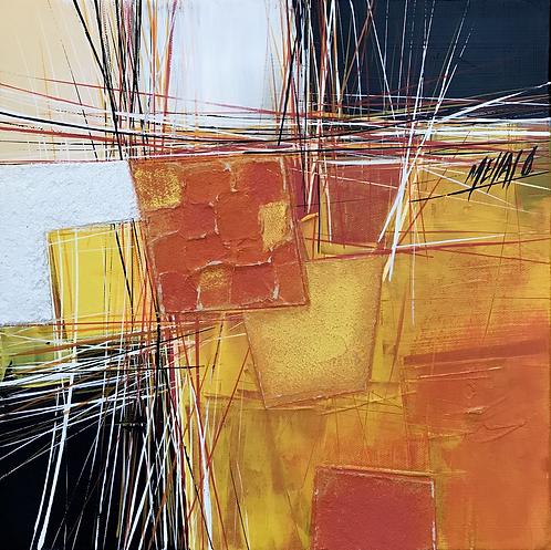 Paysage en orange... VIII | 30x30cm