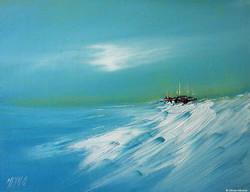 Une île à l'horizon - 27/35cm