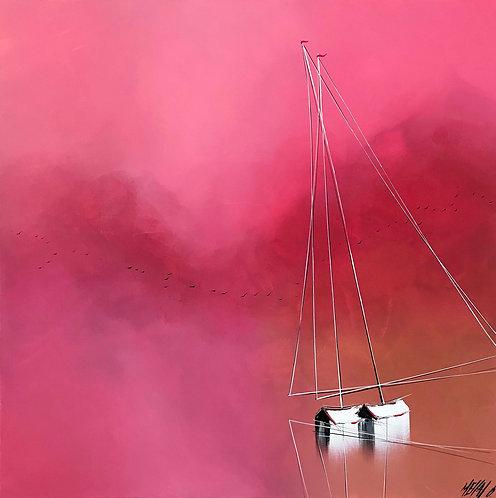 La vie en rose... | 80x80cm
