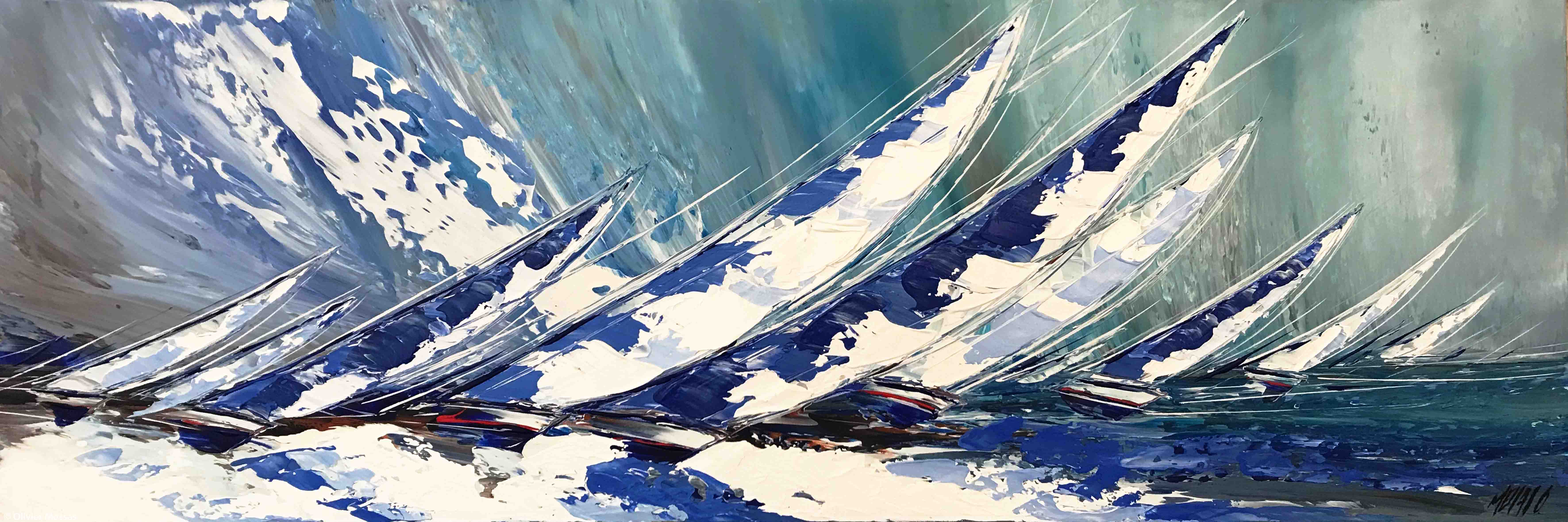 Le grand bleu..., 40x120