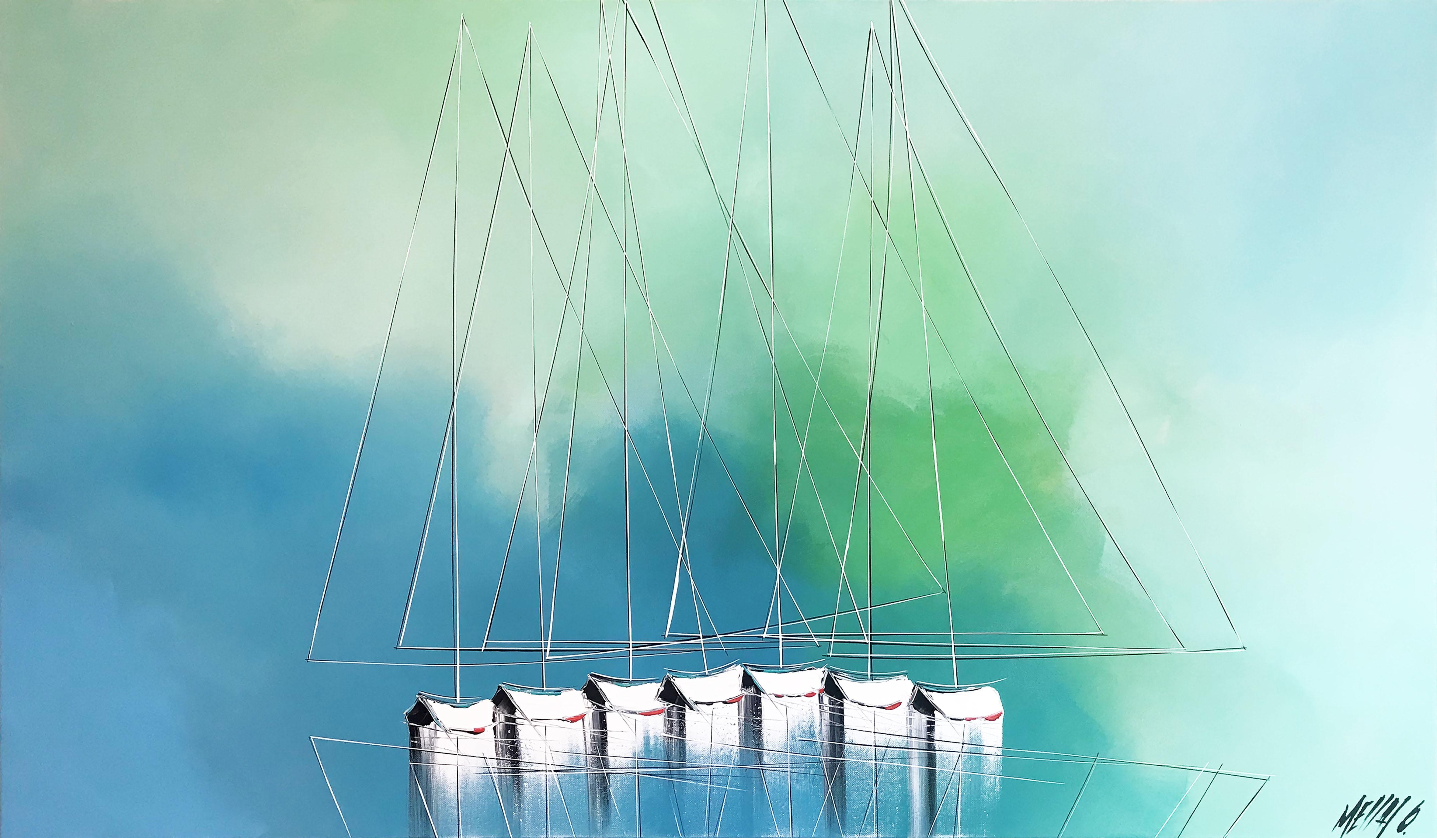 Sérénité à l'horizon...   70x120cm