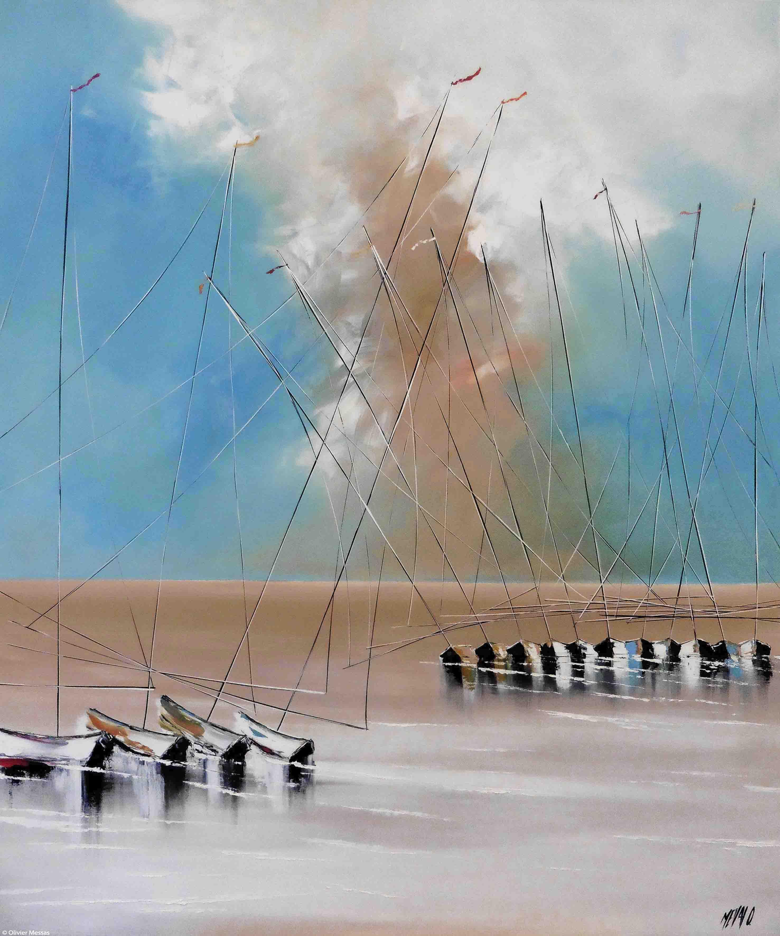 A marée basse, 120x100cm
