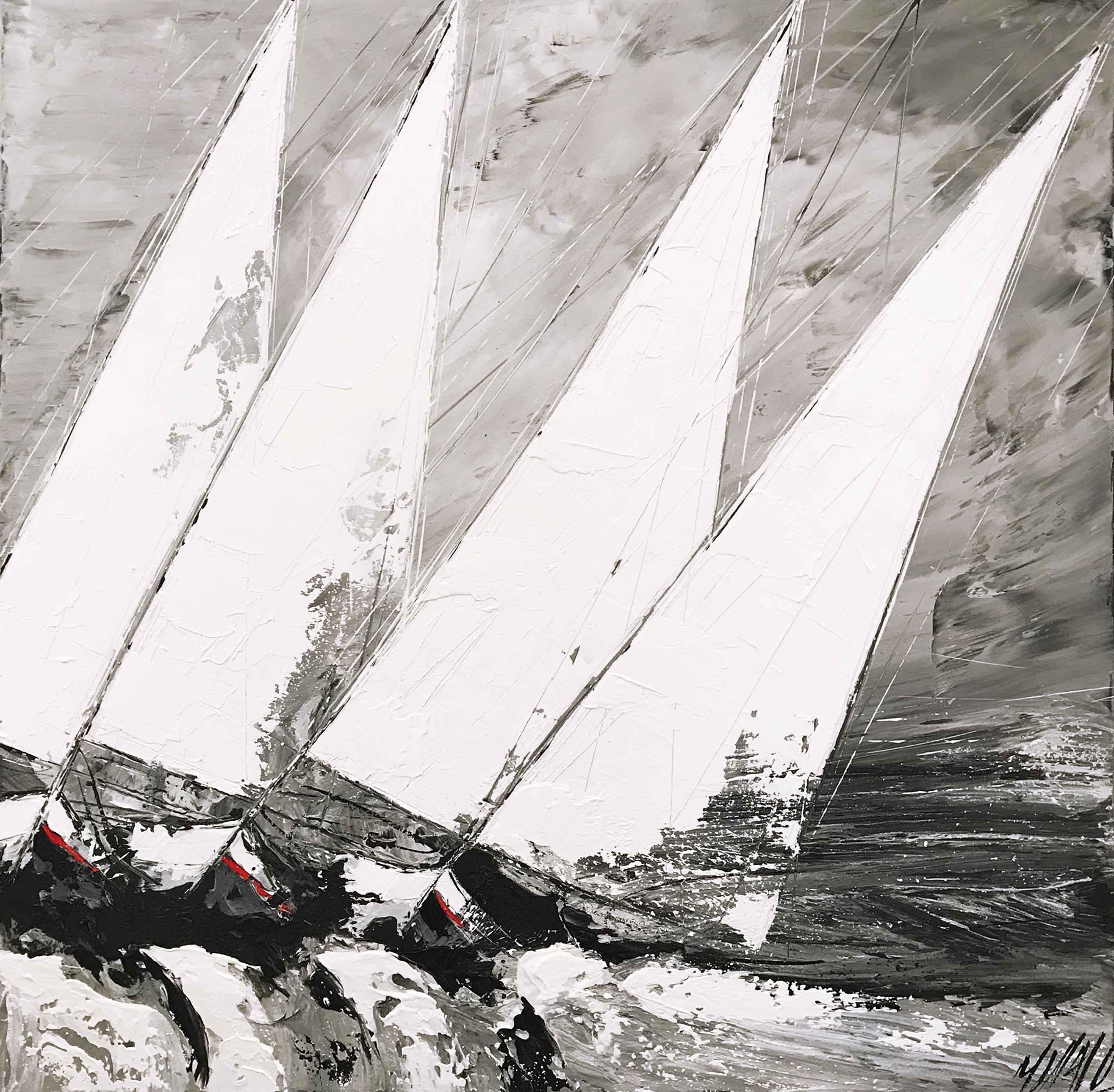 Contre vent et marée | 100x100x5cm