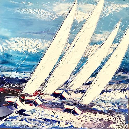Les voiliers de la mer baltique...   80x80cm