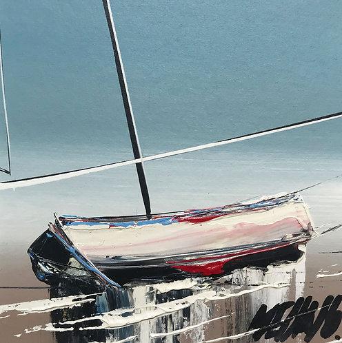 À marée basse... | 9x9cm [cadre 20x20cm]