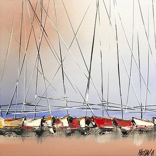 Le chant des voiliers... V | 29x29 [cadre 50x50cm]