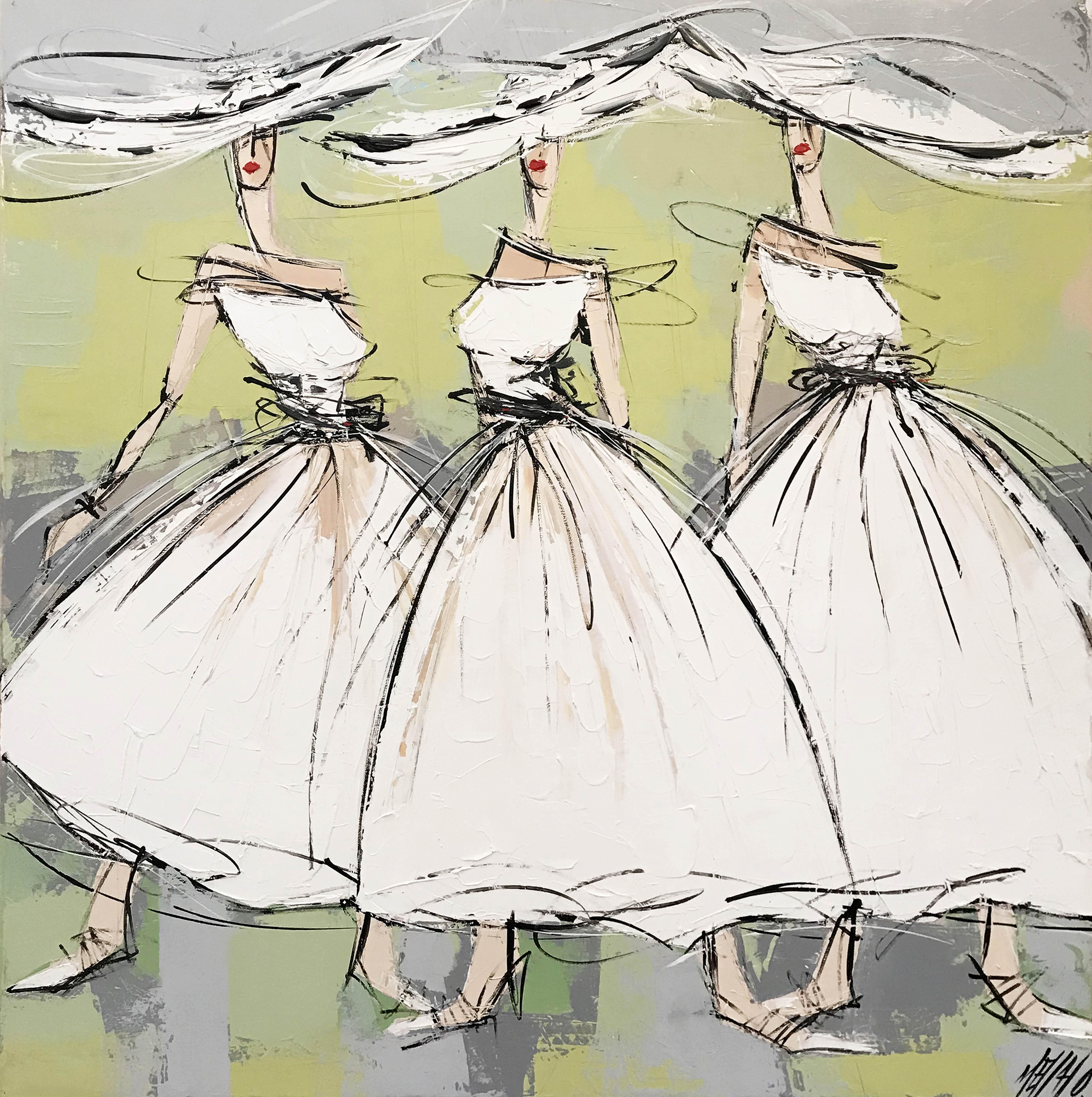 Les 3 soeurs... | 80x80cm