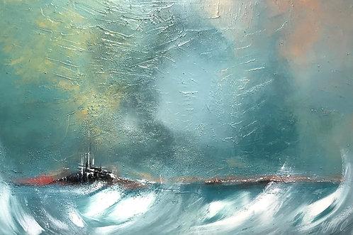 Cité en mer... III   40x60cm