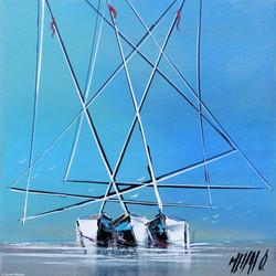 Paix en mer II, 20x20cm