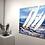 Thumbnail: Les voiliers de la mer baltique...   80x80cm