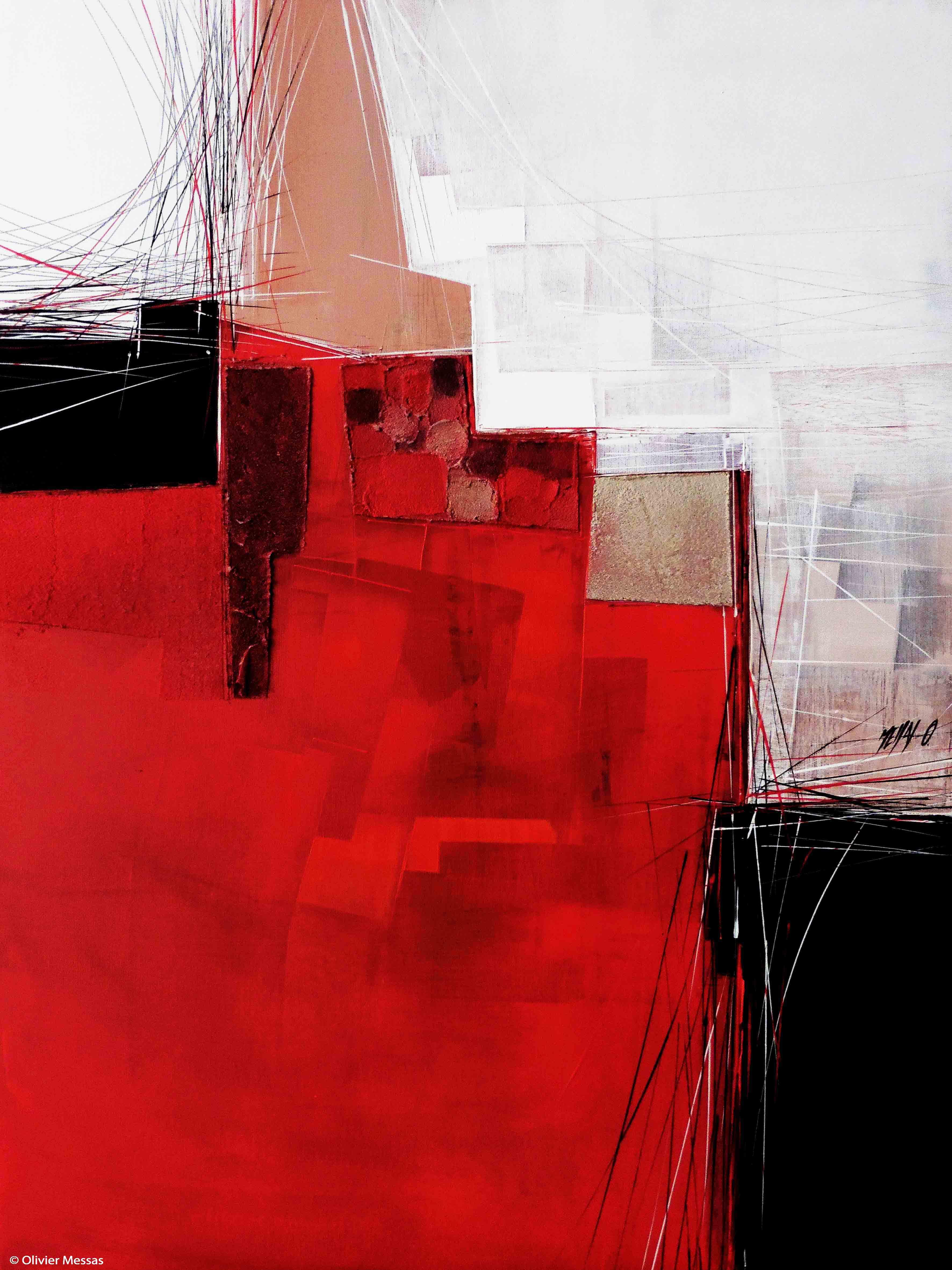 Paysage rouge II, 80cm x 60cm