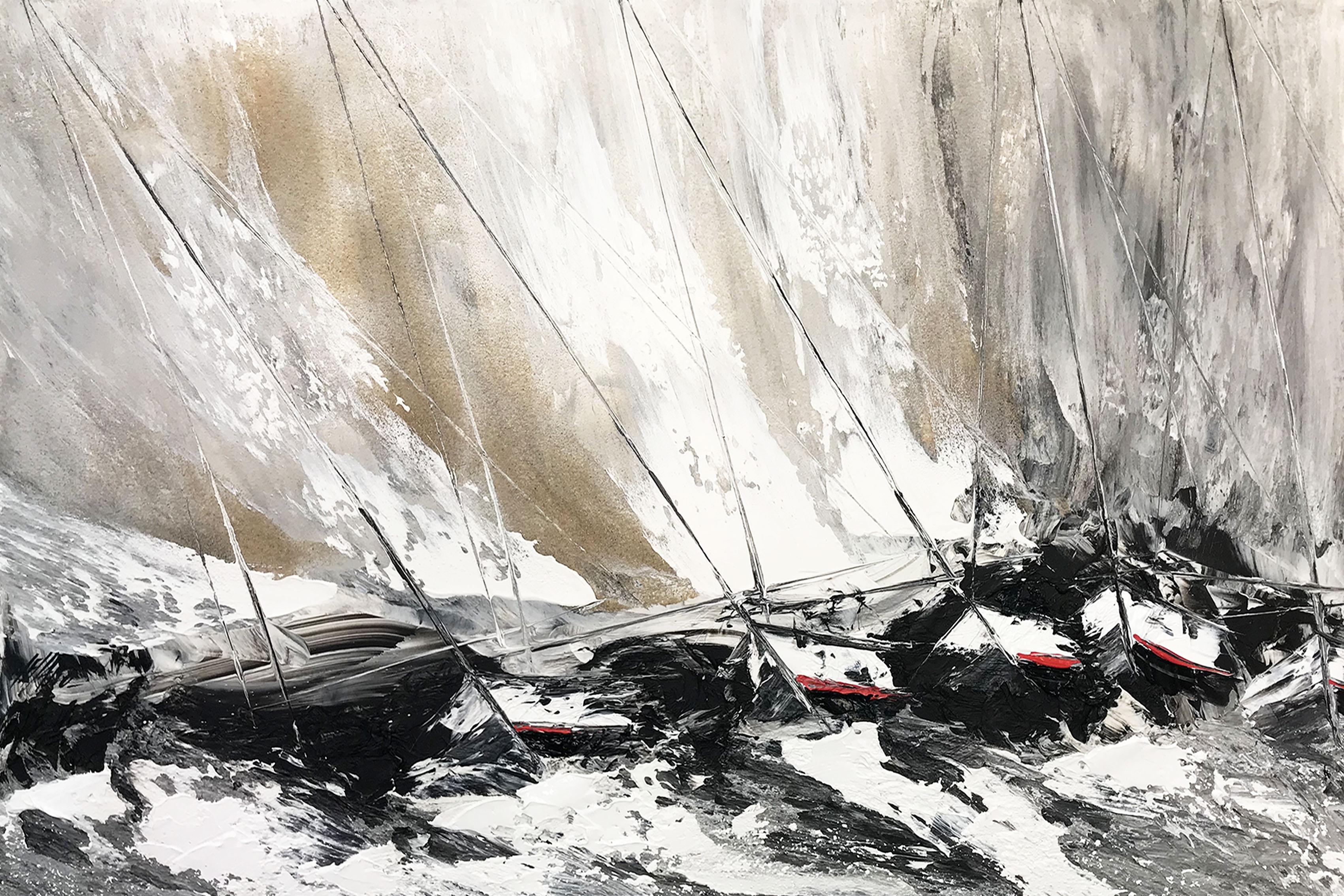 Contre vent et marée... | 80x120cm