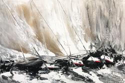 Contre vent et marée...   80x120cm