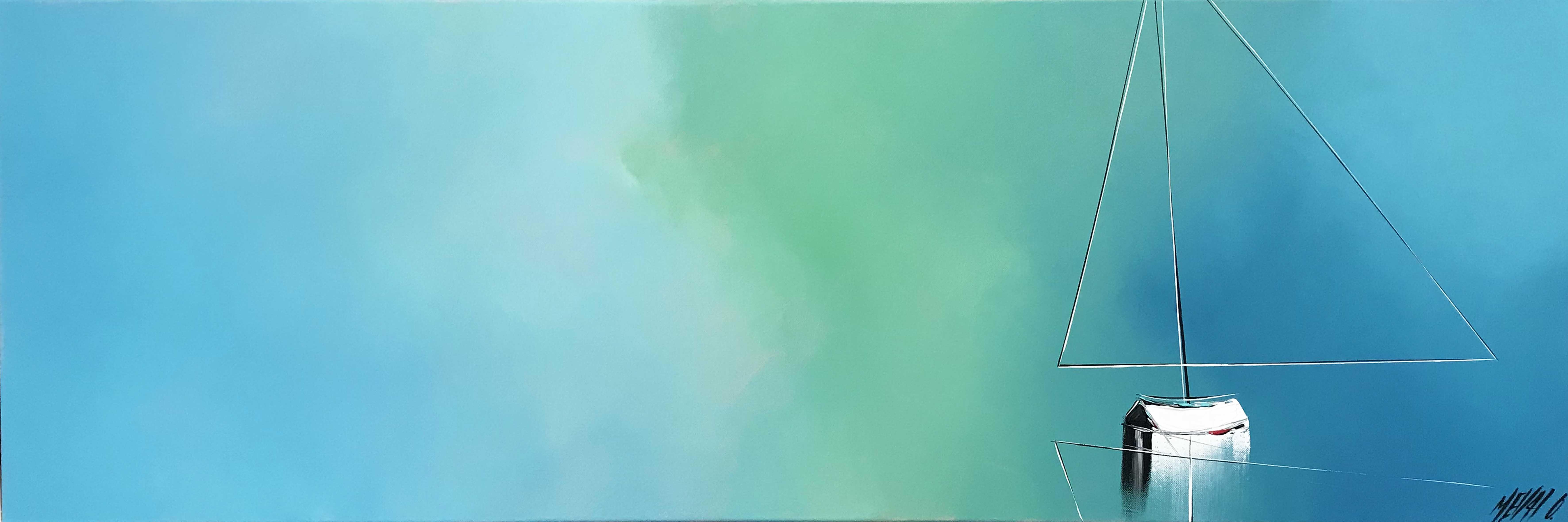 Sérénité en mer... 40x120cm