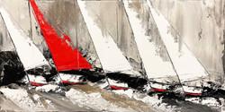 Le voilier rouge...   60x120cm (2020)