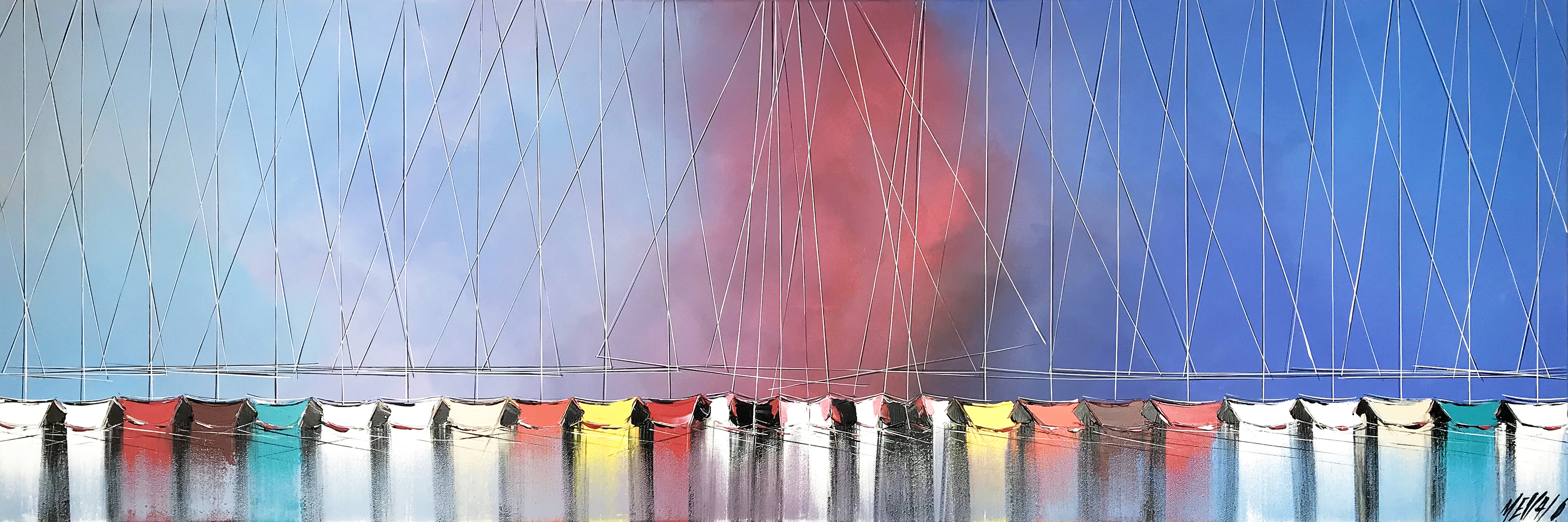 Passion à l'horizon...   50x150cm