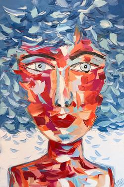 """ANASTASIA """"portrait 025""""   120x80x5cm"""