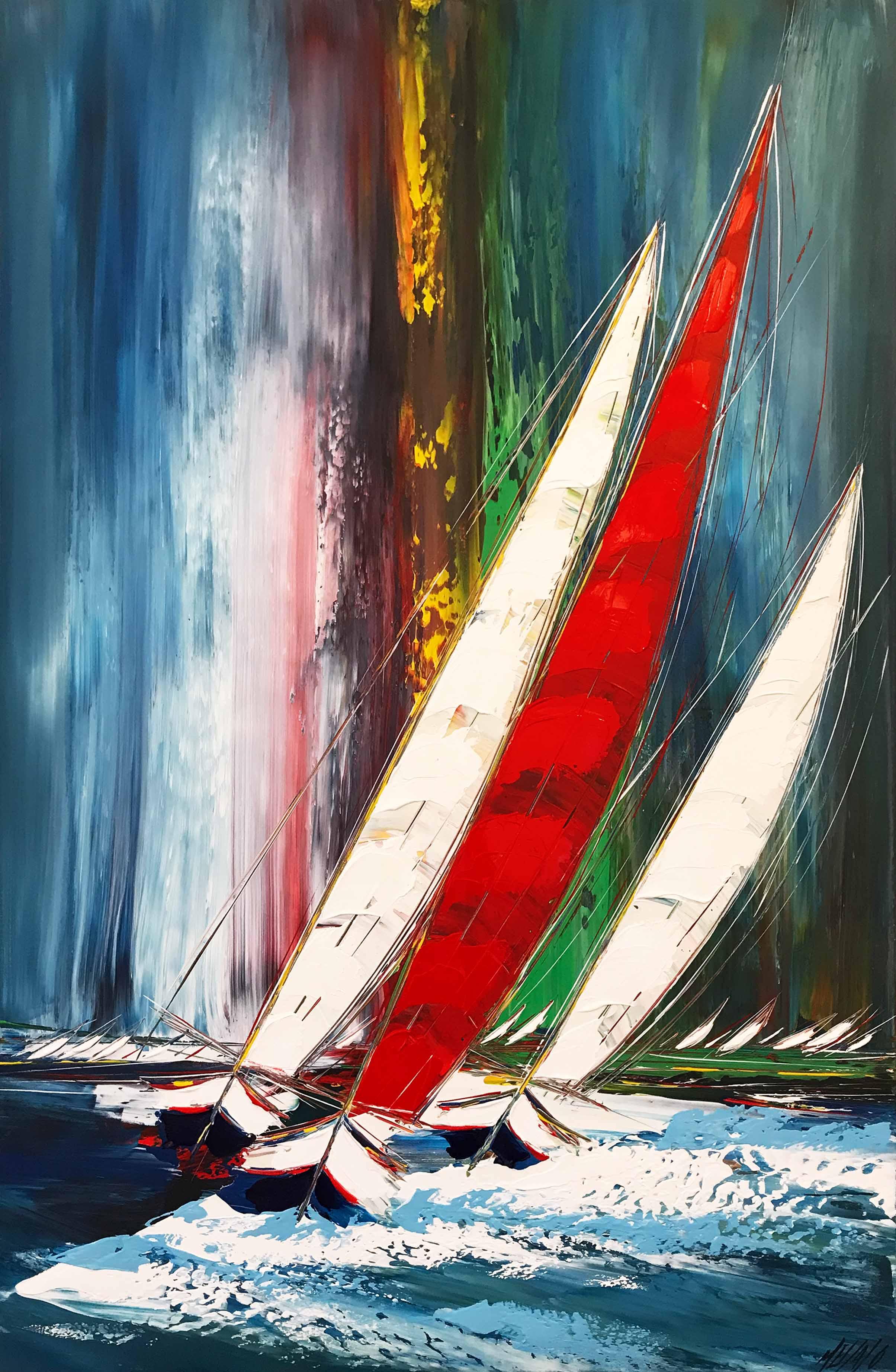 Le grand voilier rouge... | 130x85