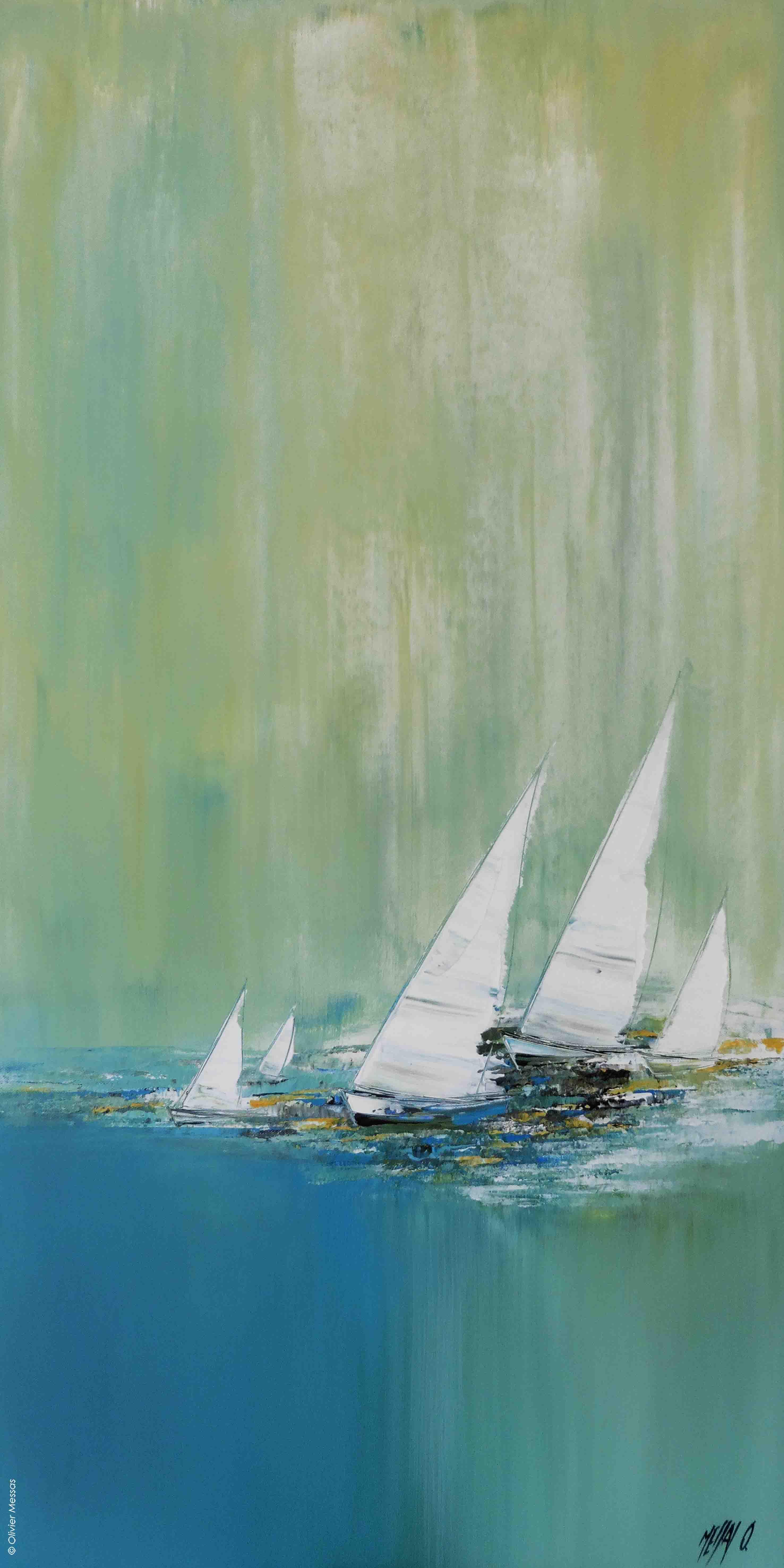 Voyage en voilier..., 100 x 50cm