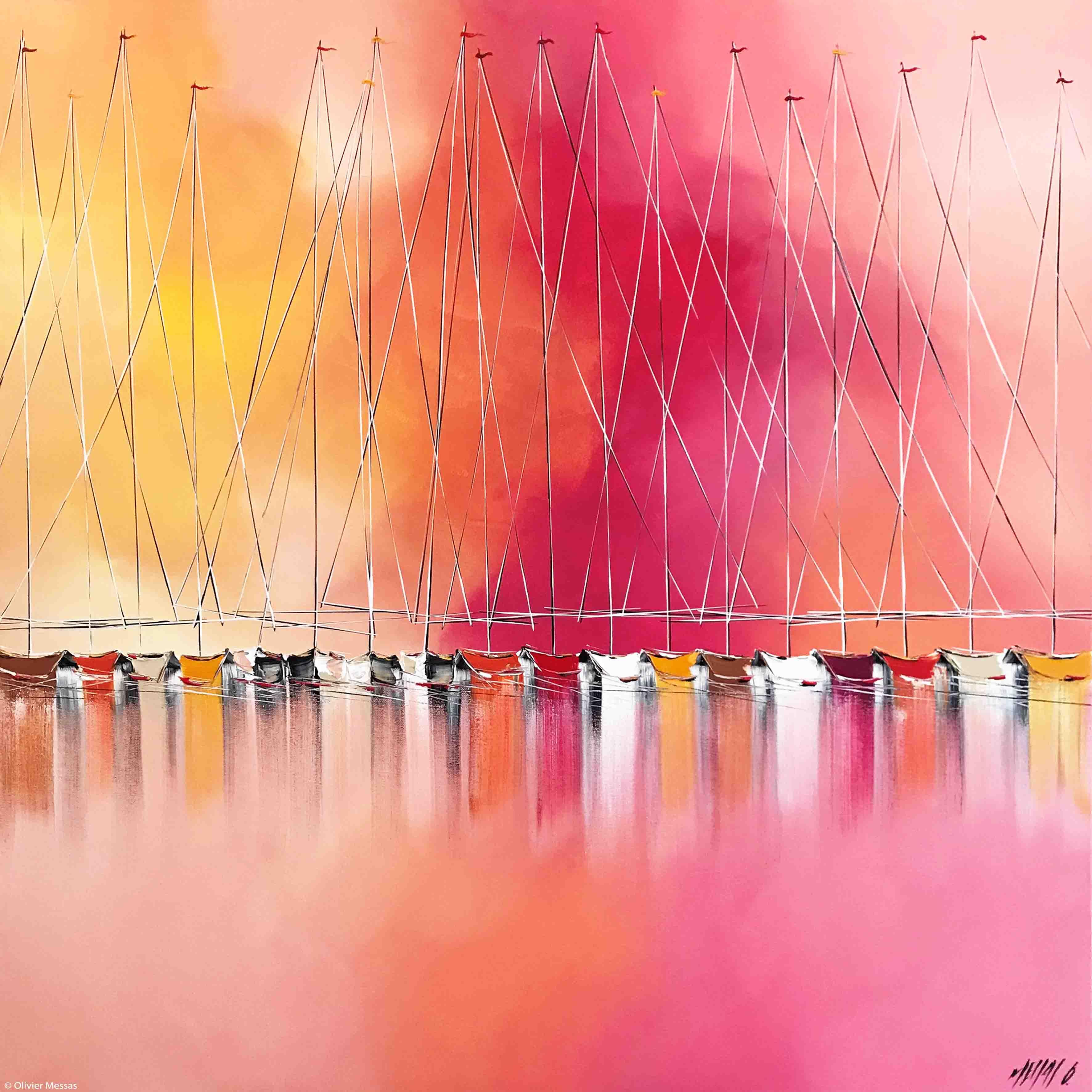 Passion à l'horizon..., 100x100cm