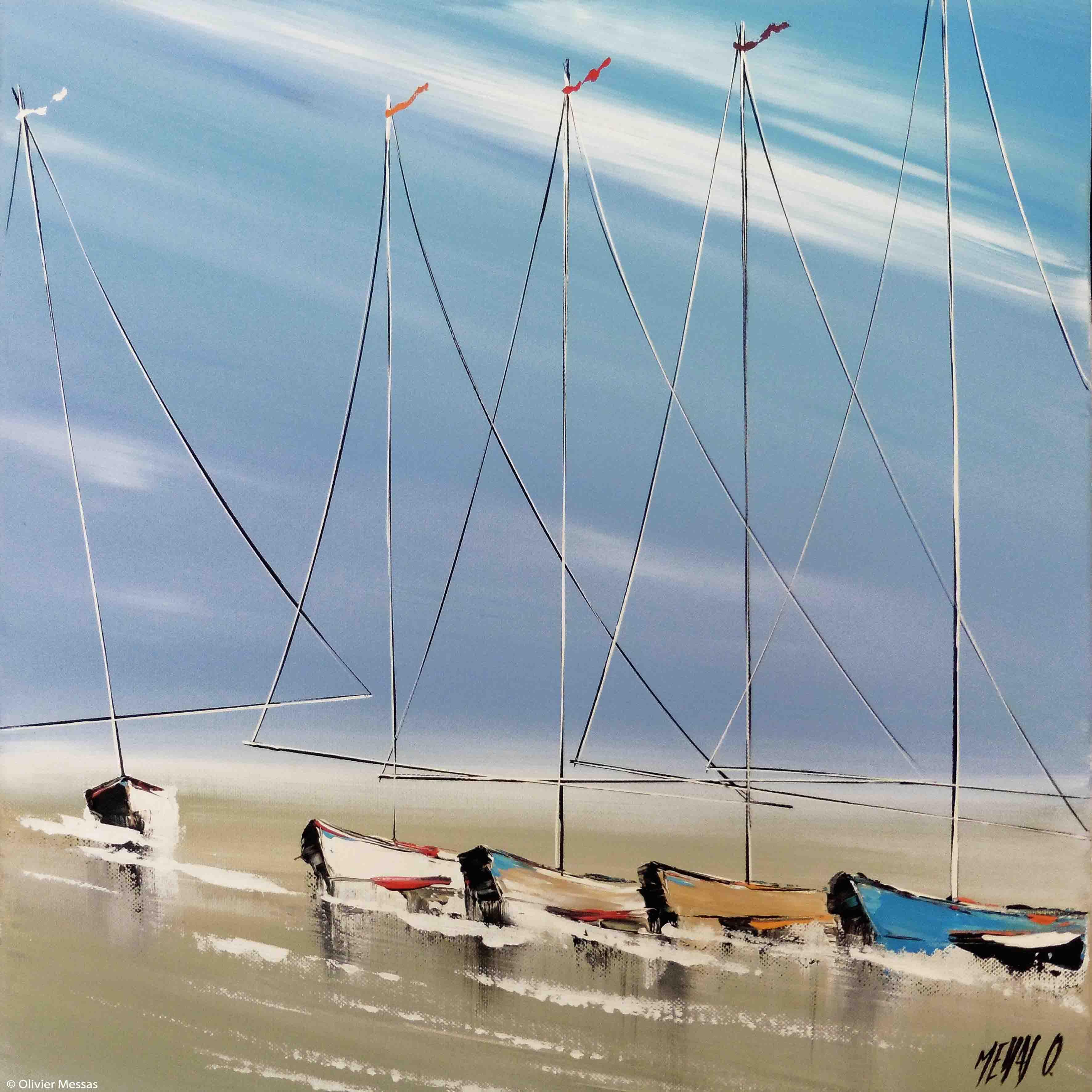 A marée basse II, 40x40cm