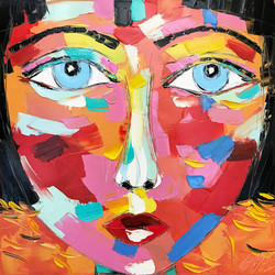 "AKIRA ""portrait 26""   50x50x2cm"