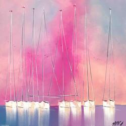La vie en rose... II, 60x60cm