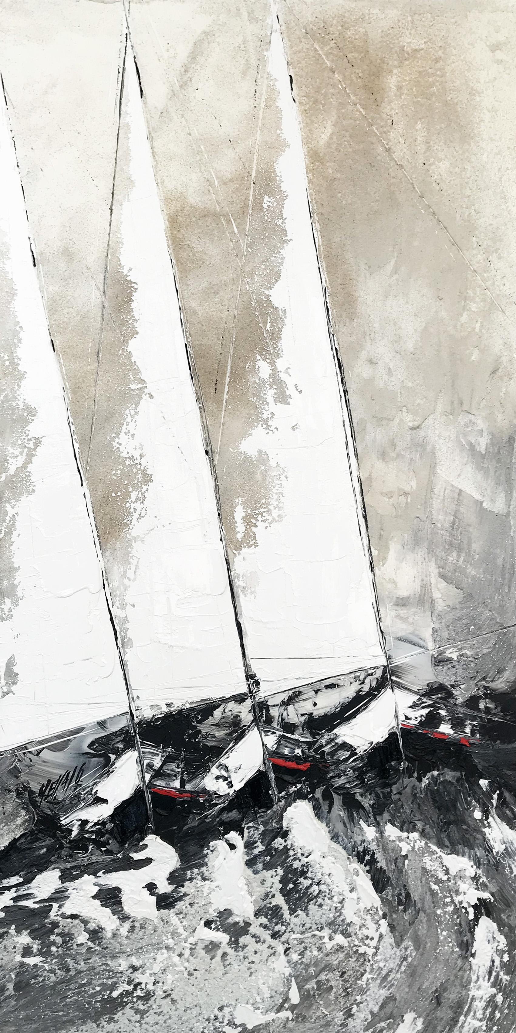 Les trois voiliers... | 120x60cm (2020)