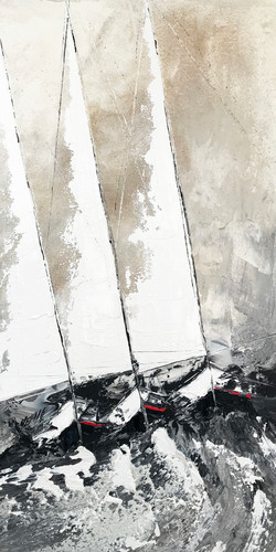 Les trois voiliers...   120x60cm (2020)