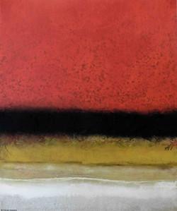 Horizon en rouge, 120/100cm