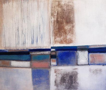 Mur bleu... | 100x120cm