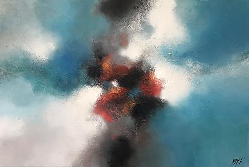 La tête dans les nuages... | 100x170cm