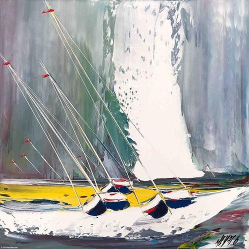 Contre vent et marée... II | 50x50cm