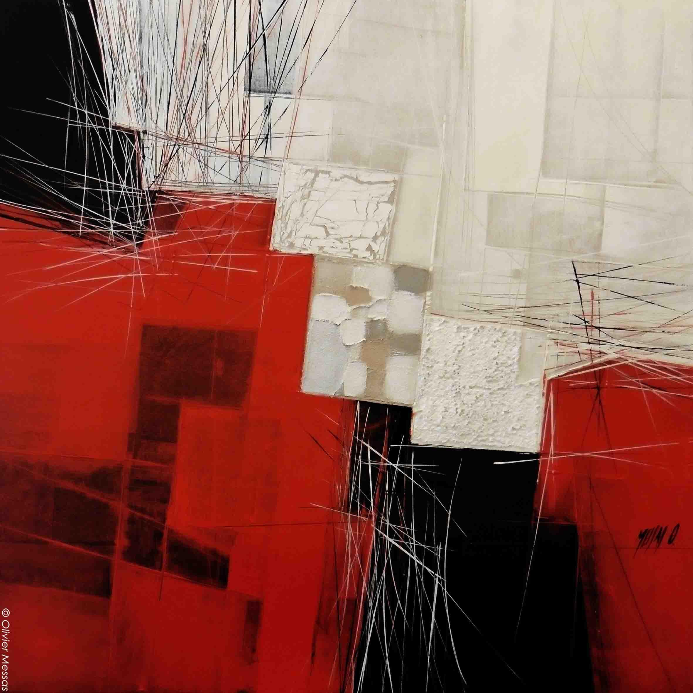 Paysage rouge & noir II, 60cm x 60cm