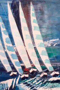 Les voiliers de Croatie... | 150x100cm