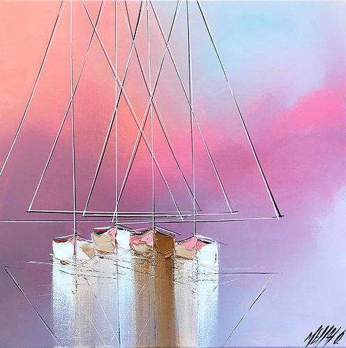 Histoire de voiliers... | 50x50cm