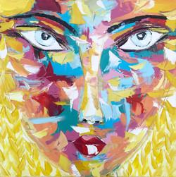 """VAL """"Portrait 21""""   80x80cm (2020)"""