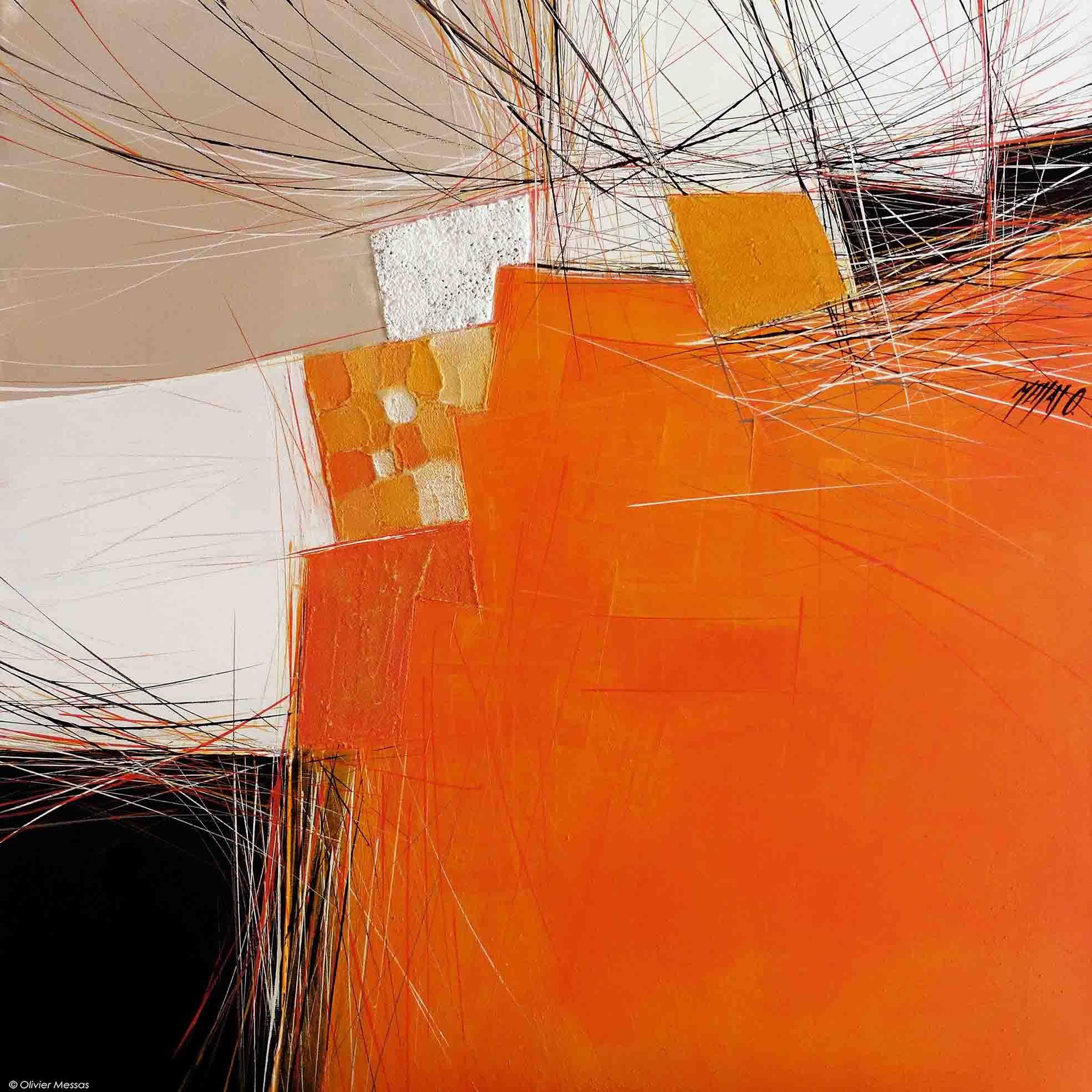 Paysage orange V, 60cm x 60cm