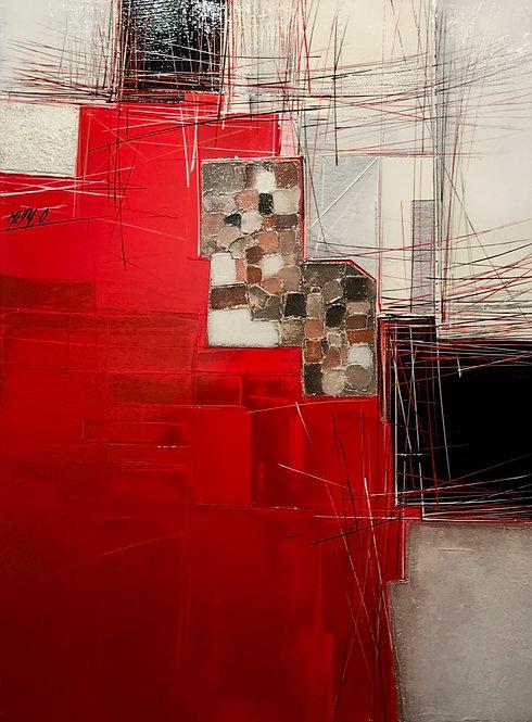 DA NANG CITY (Paysage en rouge) | 80x60cm