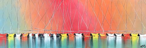 Les couleurs de l'arc-en-ciel... | 40x120cm