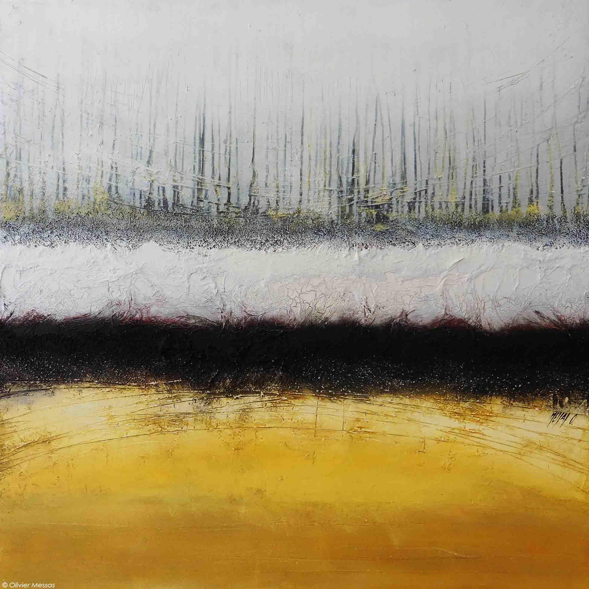 Atmosphère en jaune, 100cm x 100cm