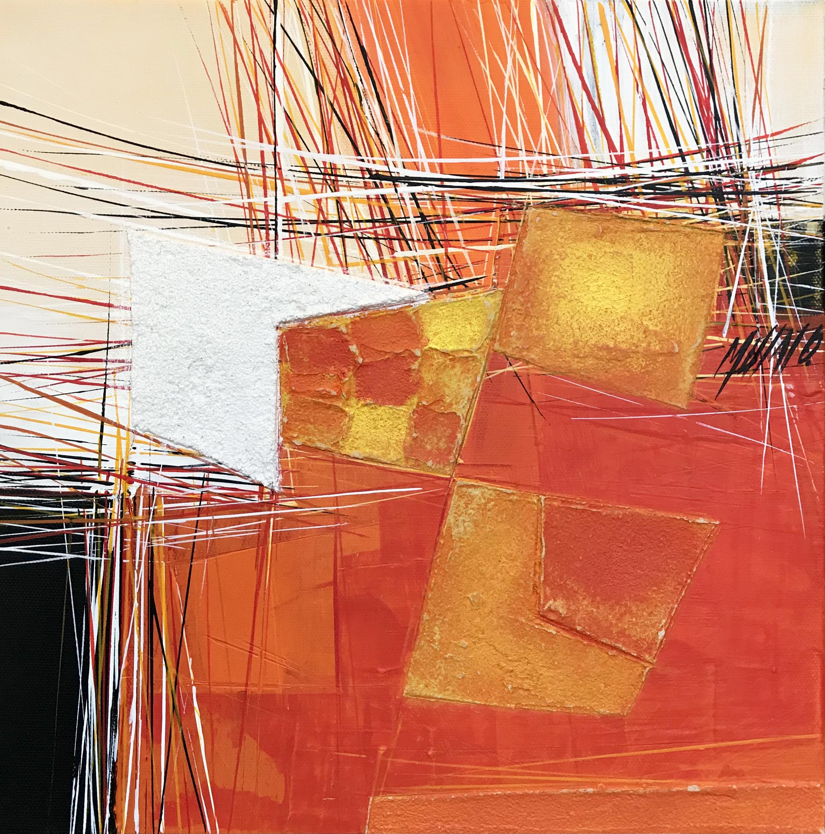 Paysage en orange... VII   30x30cm