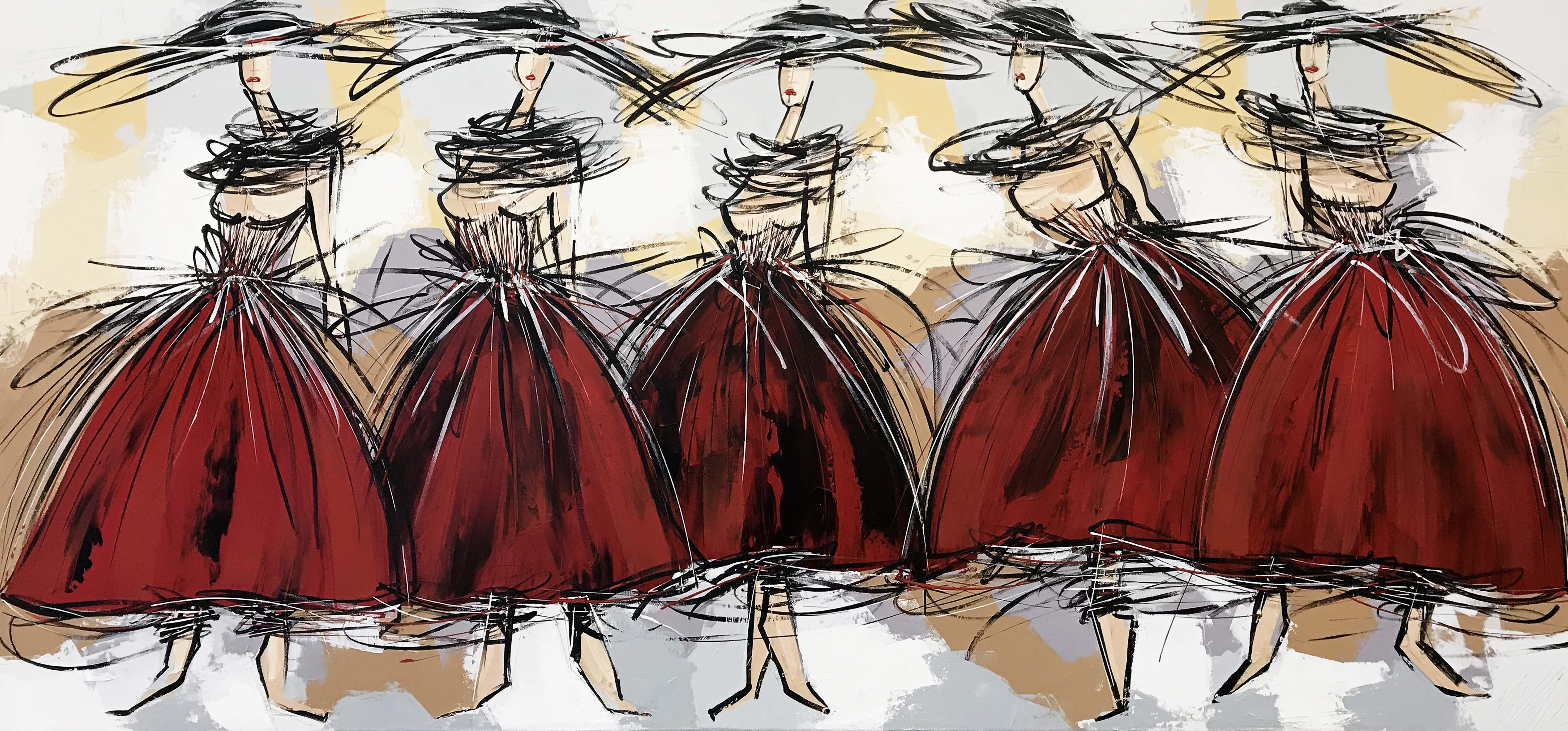 Les danseuses rouges...
