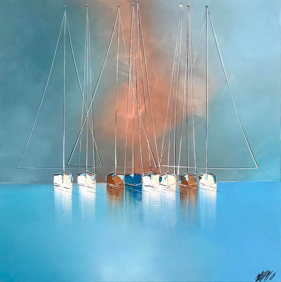 Silence en mer... | 80x80cm