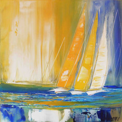 Voyage en mer II, 50x50cm
